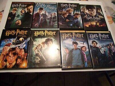HARRY POTTER 1-8  DVD LOT OF ALL 8 FILMS