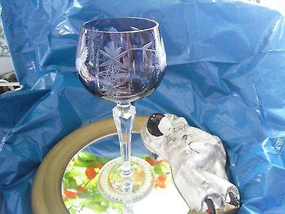 Altes Krisall Römer Glas ca. 50 Jahre alt Lila Erbstück gut erhalten