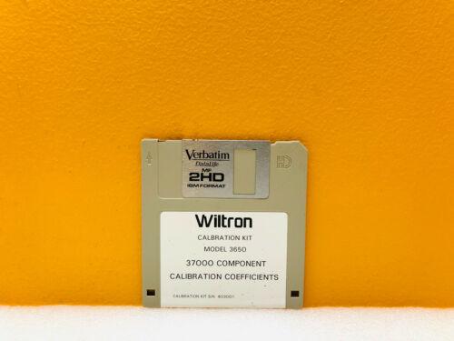 Wiltron Anritsu 3650 Series 37000 Component Calibration Coefficients Software D.