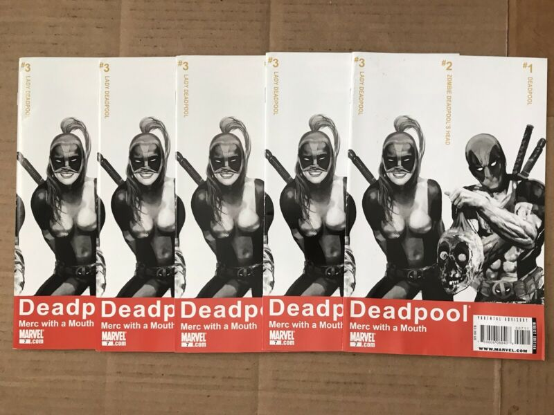 DEADPOOL MERC WITH A MOUTH 7 x5 Copies 1st LADY DEADPOOL PLEASE READ