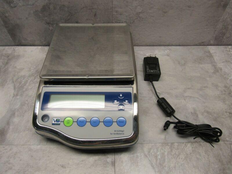 VeriBalance BI 6200 Electronic Precision Digital Lab Scale 6200g2 w/ AC Adapter