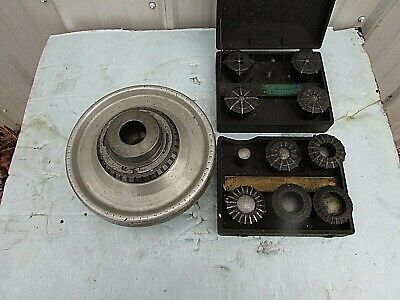 Jacobs Spindle Nose Lathe Chuck Wd1-6 Camlock Mount  Assorted Collets
