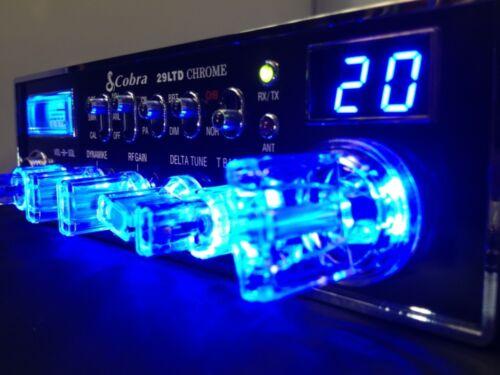 Cobra 29 LTD Chrome-BLUENITRO+CLEAR KNOBS+PERFORMANCE TUNED+RECEIVE ENHANCE ECHO