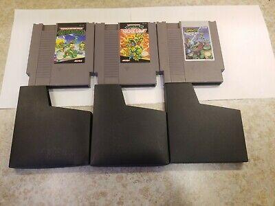 Teenage Mutant Ninja Turtles 1, 2, And 3 III NES Lot (Nintendo Entertainment)