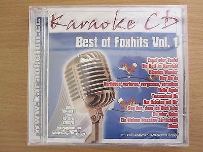 Best of Foxhits Vol. 1, deutsche Top-Hits, Karaoke CD mit Chören und Texten