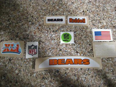 Chicago Bears  20 mil 3M vinyl full size football helmet - Chicago Bears Helmet