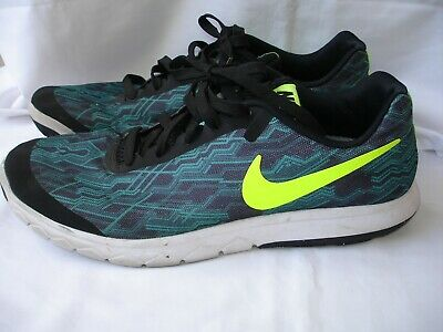 Nike Flex Experience 5 Shoe - Green and Black pattern Neon Logo - Mens 9.5 - Neon And Black