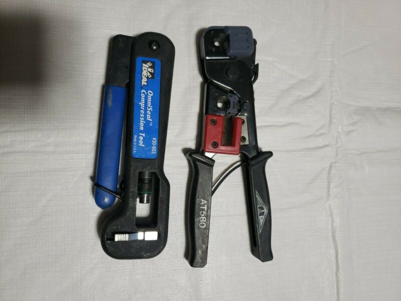 IDEAL OMNISEAL PRO COMPRESSION TOOL #30-603 and AT580 CRIMPING TOOL