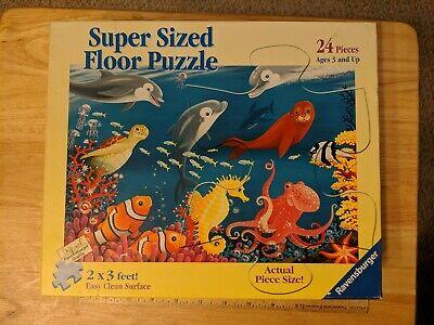 Super Sized Floor Puzzle Ravensburger 24 Piece Ocean Life  #05456 2 x 3 Feet  24 Piece Floor Puzzle