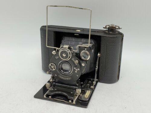 Zeiss Ikon Ica Icarette 6x6 Folding Camera Carl Jena Tessar 7.5cm 75mm F6.3 Lens