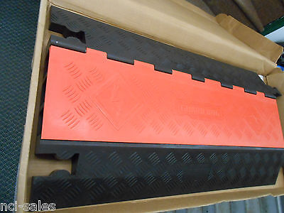 Guard Dog 3 Channel Heavy Duty Cable Protector Orange Lid Black Base Gd3x225-ob