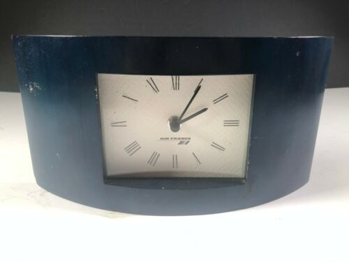 Black Air France Desk Clock