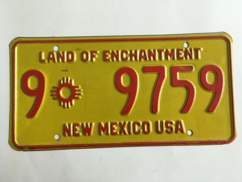 1969 New Mexico License Plate UNDATED Variety Issued to New Registrants Only