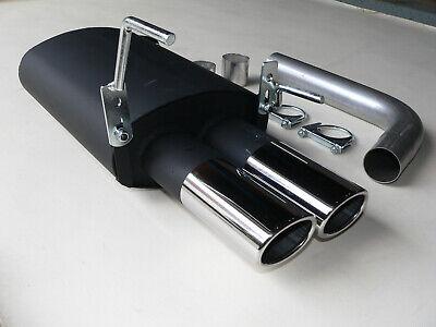 MERCEDES CLK KLASSE W208 200 & 230 & 320 SPORTAUSPUFF 2x 87mm x 70mm OVAL >NEU<