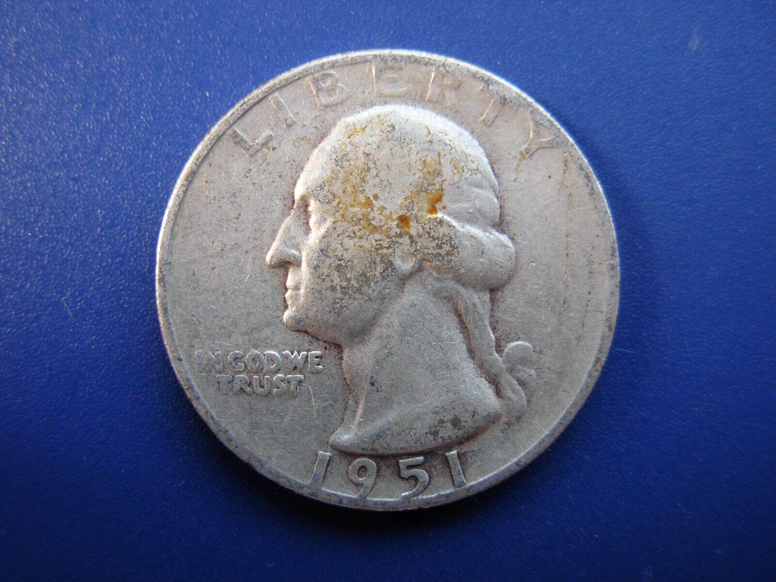 Very Nice Original 1951-S Washington Quarter. 1 - $7.25