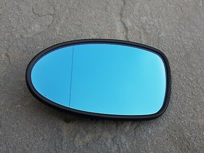 For BMW 7 series 02-08 Left passenger Electric Blue wing mirror glass plate