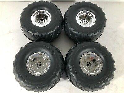 4 BIGFOOT CHROME Wheels tires Traxxas Stampede ORIGINAL MONSTER TRUCK CLASSIC