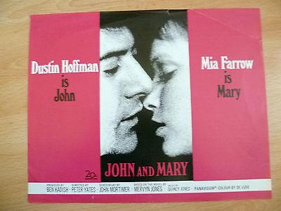 JOHN AND MARY PROGRAMME~ Dustin Hoffman & Mia Farrow