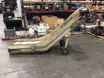 Plastic Process Equipment Incline Belt Conveyor 24 X 108 X 60 412taw