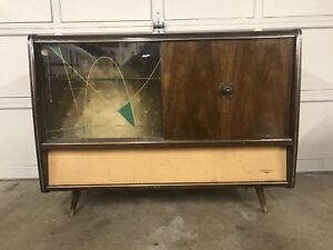 Super Funky Vintage Mid Century Korting-Console Bar