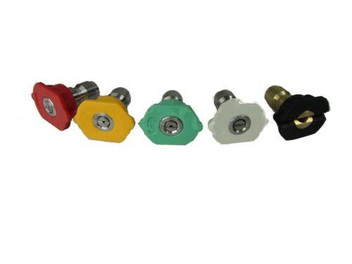 Pressure Washer Spray Tips 5 Nozzles 2.0 2.5 3.0 3.5 4.0 4.5 5.0 5.5 6.0 6.5