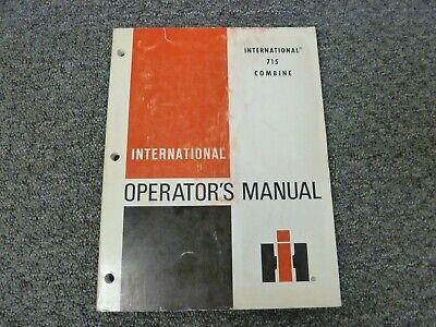 International Harvester Ih 715 Combine Owner Operator Maintenance Manual