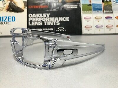Oakley Batwolf Polished Crystal Clear w/ Chrome Icons - SKU# 9101-07 Brand New