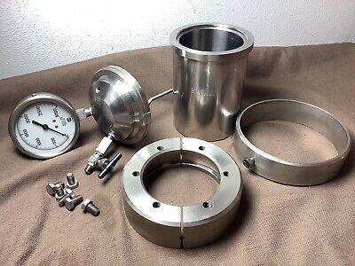 Parr Reactor Vessel Calorimeter Oxygen Bomb 2625296 1l Split Ring 599hc 3202
