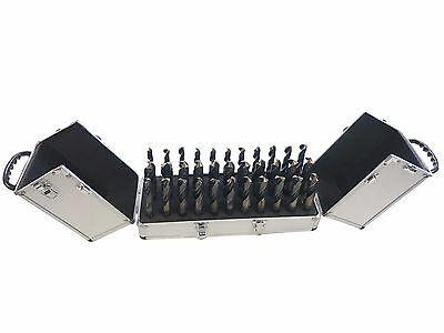 33pc Largo Size Steel Metal Silver Deming Tool Drill Bit Set