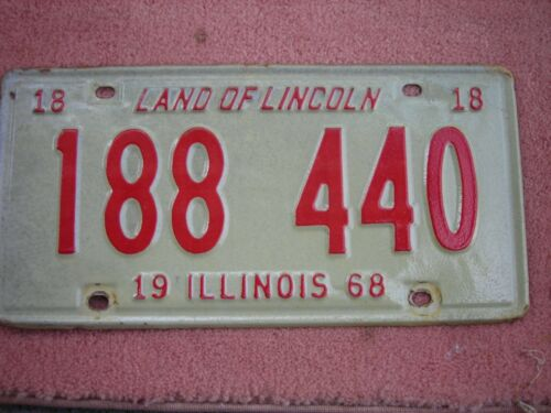 1968 Illinois license plate
