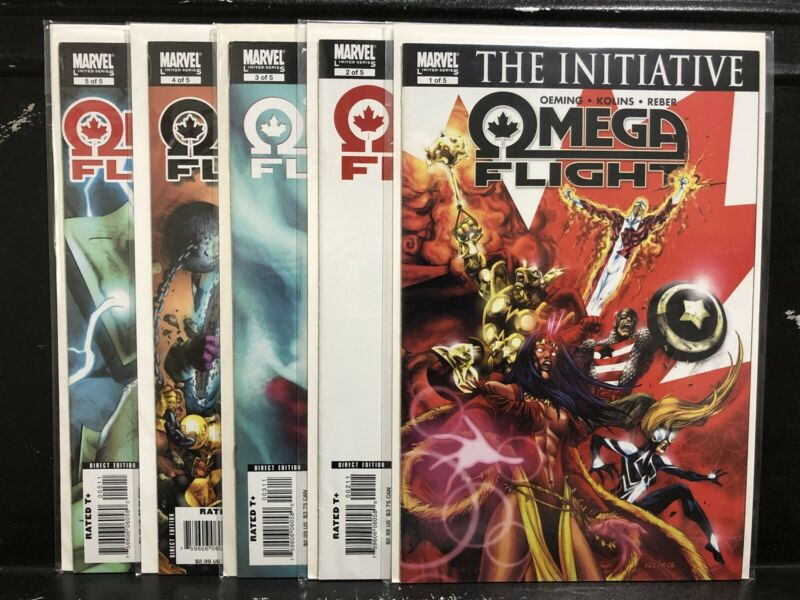 COMPLETE Omega Flight #1 2 3 4 5 (2007 Mini-Series Marvel) #1-5 - Shipping Deal