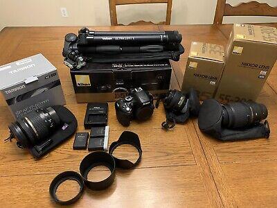 Nikon D5100 Camera Tamron 17-50mm 2.8 Nikkor 35mm 1.8 55-300mm Velbon Tripod Lot