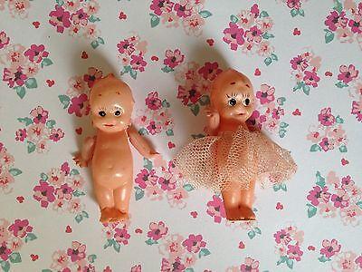 2 Vintage Japan Miniature Celluloid Kewpie Dolls