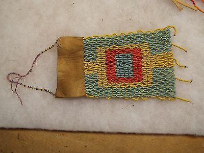 NICE NATIVE AMERICAN INDIAN BEADED POUCH LOT 3
