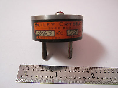 Vintage Wwii Quartz Radio Crystal Bliley Bc3 3963 Kc Frequency Control Bin2b I