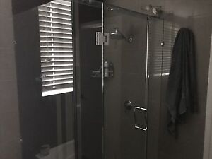 Corner frameless glass shower screen and door Surfers Paradise Gold Coast City Preview