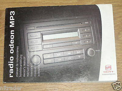 Seat Radio Odeon MP3 Audio System Handbook