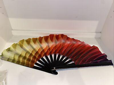 Amajiji Large Folding Fan, Bamboo And Nylon-cloth Folding Hand Fan