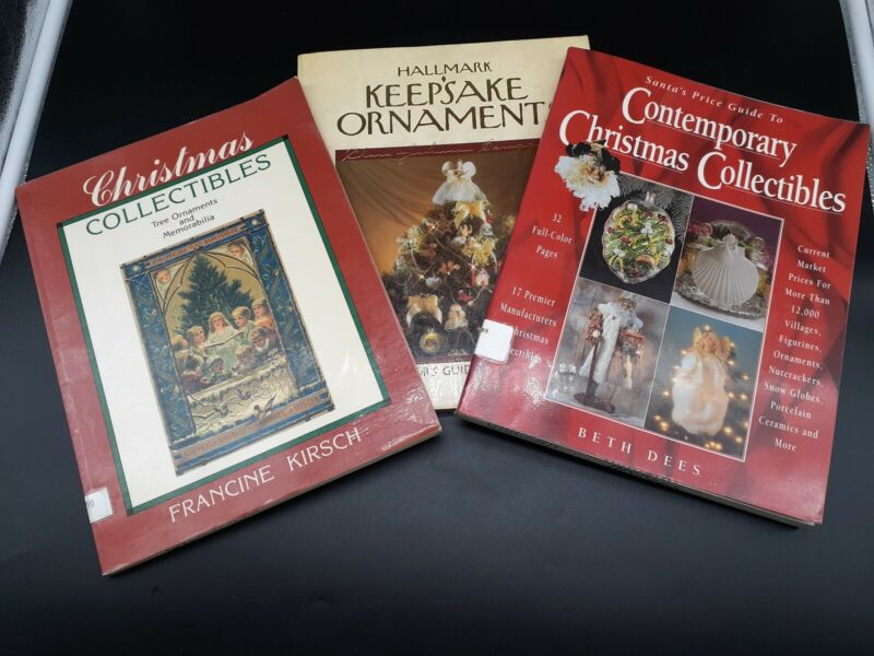 Lot of 3 Price Guide Christmas Collectibles by Dees-Kirsch-Scroggins (Hallmark)