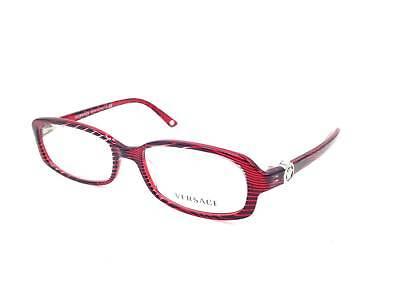 $350 VERSACE WOMENS RED EYEGLASSES FRAMES GLASSES OPTICAL ITALY LENS MOD 3149-B