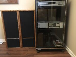 Home stereo with stand