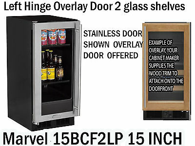 Marvel ML15BCF2LP 15 Inch Built-in Beverage Center Overlay Door Left - Beverage Center Left Hinge