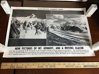 Illustrated Current News Photo - Mt Kennedy Glacier Canadian Yukon Mt Steele