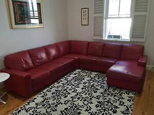 Italian Leather corner lounge Kogarah Rockdale Area Preview
