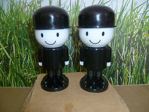 HOMEPRIDE MEN VINTAGE SALT AND PEPPER POTS BRAND NEW IN ORIGINAL BROWN BOX