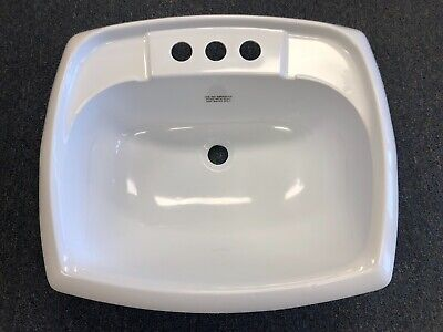 """Mobile Home/RV Sink 20"""" x 17"""" White Square Plastic Lavatory Sink with CO Plug"""