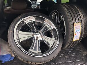 Boss 312 20 inch rims and tires ready to go