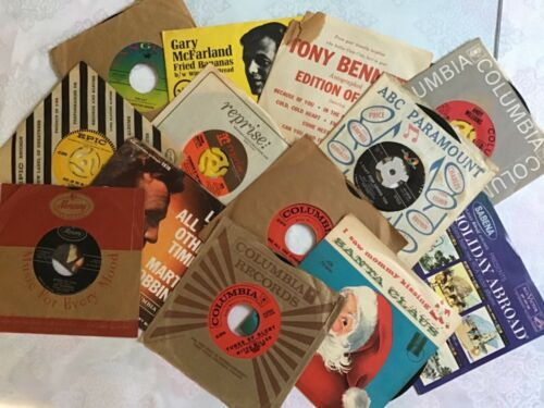 45 RPM Vinyl Record collection (15)