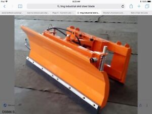 REDUCED 87  inch snow blade plow skid steer fits most tractors