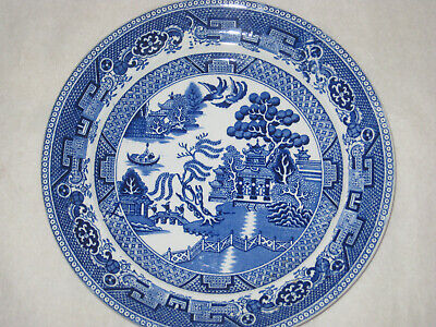 Antique Victorian Wedgwood & Co Willow Pattern  plate 8.5 inches  ()